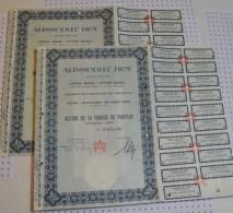 Aussedat Rey, Statuts A Annecy, Ss à Velizy Villacoublay, 2 Actions - Industrie