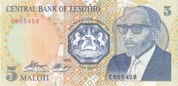 LESOTHO   5 Maloti   1989   P. 10a   UNC - Lesotho