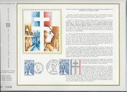 CEF N°182 B HOMMAGE AU GENERAL DE GAULLE AMELIORE PAR CACHET EXPOSITION DE GAULLE A HUPPY 1972 RARE - De Gaulle (Général)