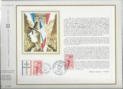 CEF N°182C HOMMAGE AU GENERAL DE GAULLE AMELIORE PAR CACHET EXPOSITION DE GAULLE A HUPPY 1972 RARE - De Gaulle (General)