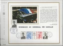 CEF N°182E HOMMAGE AU GENERAL DE GAULLE AMELIORE PAR CACHET EXPOSITION DE GAULLE A HUPPY 1972 RARE - De Gaulle (General)