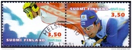 Finland 2001 WK Skiën Paar GB-USED - Finland