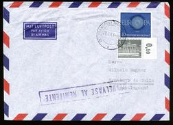 A4550) Bund Brief Von Frankfurt 20.5.61 Nach Chile Mit 1 Pfg. Berlin