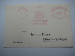 Firmen Freistempel , Meterstempel Auf Beleg Aus   1929 , Nordenham - Deutschland