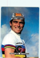 Bernard HINAULT, Autographe Manuscrit, Dédicace.  Cyclisme. 2 Scans. Champion Du Monde. Renault Elf - Wielrennen