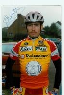 Andy MISSOTTEN , Autographe Manuscrit, Dédicace.  Cyclisme. Lire Descriptif. 2 Scans. Tonissteiner - Ciclismo