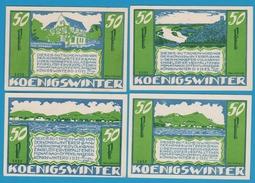 STADT KÖNIGSWINTER  Königswinterer Bank U. Honnefer Voksbank 4 X 50 Pfennig 1.11.1921 NOTGELD - [11] Local Banknote Issues