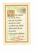 """Cpm - Lettre Alphabet """" N"""" - Proverbe Jean XXIII - édit Roussel - Arts"""