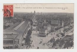 75 - PARIS / VUE GENERALE VERS LA GARE DE VINCENNES ET LA GARE DE LYON - Pariser Métro, Bahnhöfe