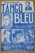 Partition - Leroy Anderson - Tango Bleu - Ed. S.E.M.I - Photos: Tino Rossi, Line Renaud, Jacques Hélian, Patrice & Mario - Musique & Instruments