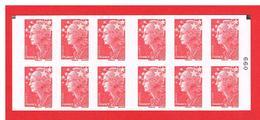 FRANCE - 2009 - CARNET N° 4197-C 6a -NEUF** NON PLIE Avec 2 CARRES NOIRS - Marianne De BEAUJARD - TVP-COTE:  45,00 Euros - Definitives