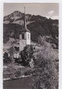 Broc. Clocher De L'ancienne église, La Sarine Et La Dent De Broc. Timbre-taxe - FR Fribourg