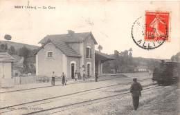 03 - ALLIER / Bret - La Gare - Train - Très Beau Cliché - France