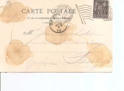 Exposition De Paris-1900( CP Illustrée Avec Cachet De L'expositionet Vignette Privée Du Pavillon De Hongrie à Voir) - 1900 – Paris (France)