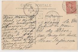Boite Urbaine C, DAMMARIE LES LYS Seine Et Marne Sur  CP De Melun, Chateau De VAUX LE VICOMTE. - Cachets Manuels