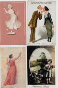 Lot N° 116 De 100 CPA Fantaisies Illustrateurs Déstockage Pour Revendeurs Ou Collectionneurs  PORT GRATUIT FRANCE - Postales