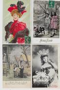 Lot N° 117 De 100 CPA Fantaisies Illustrateurs Déstockage Pour Revendeurs Ou Collectionneurs  PORT GRATUIT FRANCE - Postales