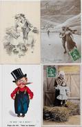 Lot N° 118 De 100 CPA Fantaisies Illustrateurs Déstockage Pour Revendeurs Ou Collectionneurs  PORT GRATUIT FRANCE - Postales
