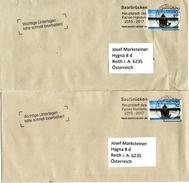 2 X Auslandsbrief Von Briefzentrum 66 Mit 90 Cent Und Werbestempel Saarbrücken - Hauptstadt Des Fairen Handels 2017 - BRD