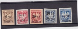 1921 Dues Surcharged Mi. P32/36, Sc. J35/39, Yvert Taxe 32/36  Mint Hinged - Postage Due
