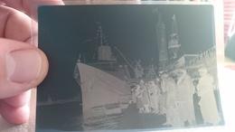 Négatif Paquebot Normandie Proue Grand Pavois Le Havre CGT Transatlantique Circa 1930 - Bateaux