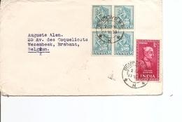 Inde ( Lettre De 1953 De Bombay Vers La Belgique à Voir) - Lettres & Documents