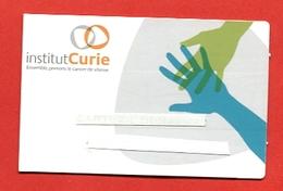 """976C  - Carte De Visite  """" Institut Curie """"    Pour Collection - Cartoncini Da Visita"""