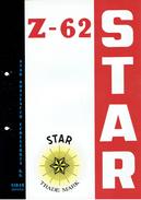 """Publicité Plastifiée Sur La """"STAR"""" SUBMACHINE GUN MODEL Z-62 STAR BONIFACIO ECHEVERRIA, EIBAR ESPANA - Armes Neutralisées"""