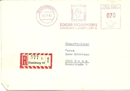 Registered Firmcover Meter Edgar Mohrmann ONE PENNY Hamburg 25-7-1961 - Post