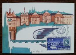 CM 1970 - YT N°1659 - CENTENAIRE DE L'EMISSION DE BORDEAUX - Cartes-Maximum