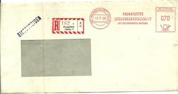 Registered Cover Meter Frankfurter Siedlungsgesellschaft Mit Beschrankter Haftung, Frankfurt 13-7-1960 - [7] West-Duitsland