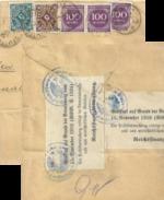 Brieffragment   Stuttgart - Bern  (Reichsfinanzkontrolle)          1923 - Brieven En Documenten