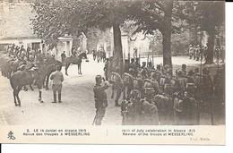 """14/18 BELLE CPA """"REVUE DES TROUPES A WESSERLING (ALSACE) EN 1915 (CHEVAUX) - War 1914-18"""