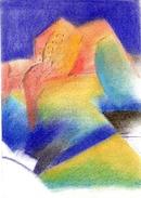 Tesson Gérard.dessin Post-cubiste . Crayons  Sur Papier.feuille : 260 X 180 Mm. - Dessins