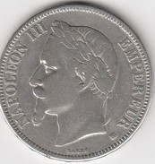 Napoléon III 5 Francs 1869 BB - France