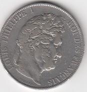 Louis Philippe 5 Francs 1844 W Lille - France