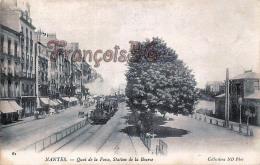 (44) Nantes - Quai De La Fosse Station De La Bourse - Train Locomotive - 2 SCANS - Nantes