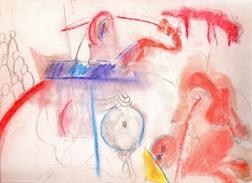 Tesson Gérard.Personnages Post-cubistes.crayon Sur Papier.la Feuille: 321 X 251 Mm. - Dessins