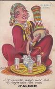 ALGERIE---ALGER--la Belle Aïcha--je T'invite Avic Moi Bor Ti Regardes Les Vues--carte à Système 10 Vues--voir 2 Scans - Algiers