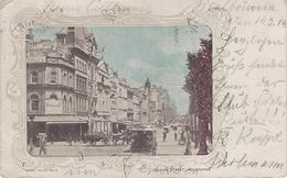 Litho Passepartout AK Melbourne Collins Street Tram Tramway Hotel ? Victoria VIC Australia Australien Australie - Melbourne
