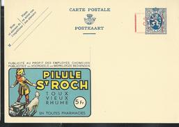 Publibel Neuve N° 173 ( PILULE St-ROCH: Toux- En Pharmacies - Chien )   Surch. Timbreuse électrique - Werbepostkarten