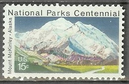 1972 15 Cents Mount McKinley, Mint Never Hinged - United States