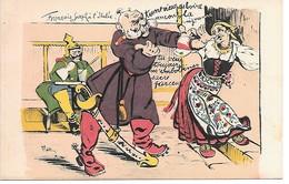 "14/18 RARE CPA SATIRIQUE ANTI ALLEMANDE ""FRANCOIS JOSEPH A L ITALIE"" SUP.... - Guerre 1914-18"