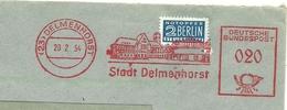 Firmcover Meter Stadt Delmenhorst 20/2/1954 Mit Notopfer Steuermarke Berlin - Monumenten