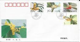 Chine, FDC 1995 Fleurs - 1949 - ... République Populaire