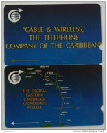 CARIBBEAN ISLANDS GENERAL - Mint Pair - GPT - Cable & Wireless - 1CCMA, C