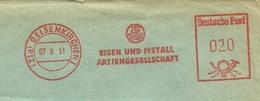 Firmcover Meter Eisen Und Metal Lehr & Co, Gelsenkirchen 7/8/1951 - Fabrieken En Industrieën