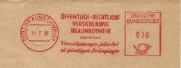 Firmcover Meter Offentuch-Rechtliche Versicherung Braunsweig 11/7/1958 - Fabrieken En Industrieën