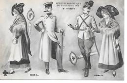 14/18 RARE ET BELLE CPA (SATIRIQUE ANTI ALLEMANDE) ALSACE (A VOIR) (PAR JARRY) SUP - War 1914-18