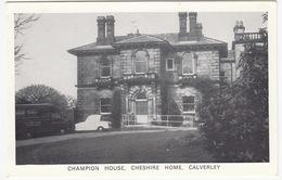 Calverley: RELIANT REGAL, COMMER MINI-COACH  - Champion House, Cheshire Home - Voitures De Tourisme